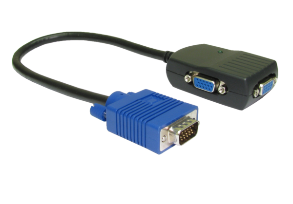 Split Monitor Cable : Way mhz vga monitor splitter cable splitters