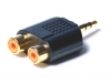 3.5MM TO 2RCA SOCKET ADAPTOR