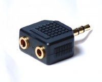 3.5MM HEADPHONE SPLITTER ADAPTOR GOLD PLATED