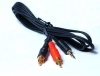 5M 3.5MM MINI JACK TO 2RCA PHONO GOLD PLATED