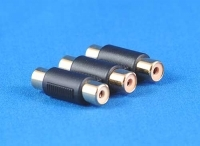 3 RCA COUPLER JOINER GOLD PLATED