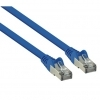 1M Flat Blue Cat6 Shielded Copper Ethernet RJ45 Network Cable