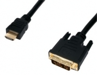 1M HDMI TO DVI-D CABLE GOLD PLATED