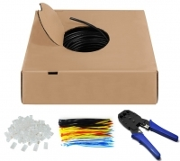 CAT 6 outdoor network cable Kit, U/UTP,