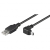 USB Mini B Cable Right Angled Plug 1.8M