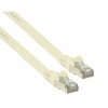 1M Flat White Cat6 Shielded Copper Ethernet RJ45 Network Cable