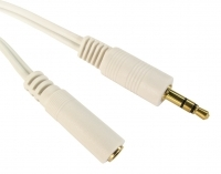 3M White Headphone Extension Cable 3.5mm Male To Female