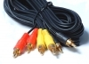 AV CABLE 1.2M 3RCA PHONO TO 3 RCA PHONO GOLD PLATED