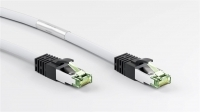 Cat8 RJ45 Ethernet Cable 15M White (Cat6a plug with Cat8 cable