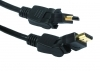 2M HDMI Cable With 2 Way Right Angle Swivel Plugs