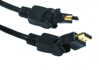 5M HDMI Cable With 2 Way Right Angle Swivel Plugs