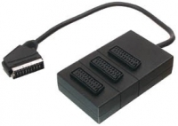 SCART SPLITTER 3 WAY BOX
