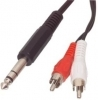 6.3mm Plug To 2 RCA Phono Plugs 1.5M