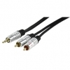 High Quality Audio Cable 3.5mm To 2 RCA Phono 1.5M