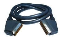 LONG SCART CABLE 5M SHIELDED COAX GOLD