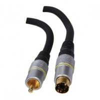 SVHS To Composite RCA Video Cable High Quality 1.5M