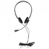 COMPUTER HEADSET WITH BOOM MICROPHONE SKYPE COMPATIBLE
