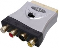 High Quality Scart To 3 RCA Phono & SVHS Adaptor