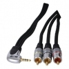 High Quality 3.5mm 4 Pole Jack To 3 RCA 1.5M