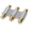 High Quality 3 RCA Coupler