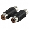 2 RCA COUPLER JOINER GOLD PLATED