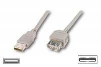 USB2 EXTENSION LEAD  A PLUG TO A SOCKET  3M