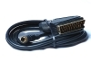 SCART TO SVIDEO LEAD GOLD PLATED 1.5M