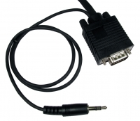 SVGA PC To TV Cable With Audio 10M