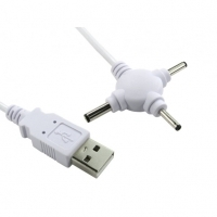 USB 3 Way Triple Charger 2.5mm, 3.0mm & 3.5mm DC Jack
