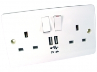 UK USB & Mains Power Socket