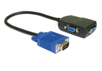 2 Way 300MHZ VGA Monitor Splitter Cable